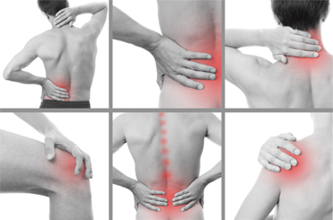 Images of pain areas in the body that we can treat